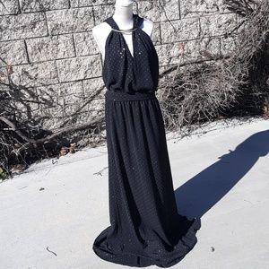 Michael Kors Black & Gold Gown
